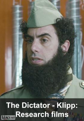 Poster_se The Dictator XTRA: Research films