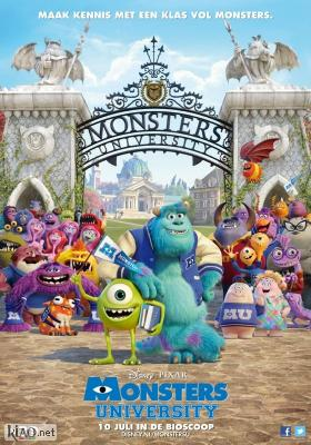 Poster_nl Monsters University - Dubbed Version