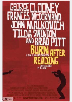 Poster UK Burn After Reading