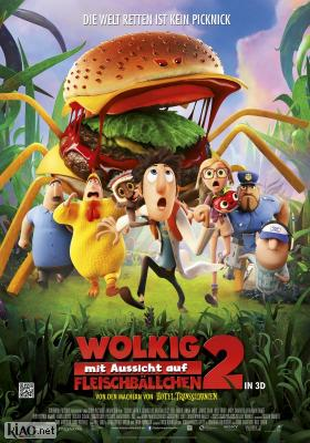 Poster_de Cloudy with a Chance of Meatballs 2