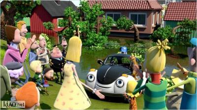 Video Pelle Politibil går i vannet